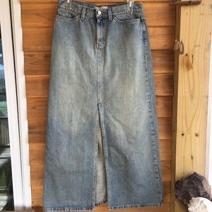 Vintage Gap High Slit Jean Skirt Size 4